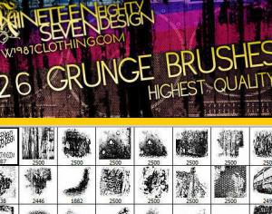 Grunge brush set (image pack included!) Photoshop brush