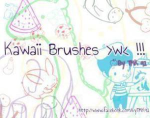 Kawaii Doodle Brushes  Photoshop brush