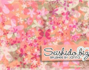FREE Seishido.biz Distressed Flower Brushes  Photoshop brush
