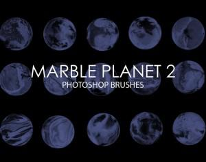 Free Marble Planet Photoshop Brushes 2 Photoshop brush