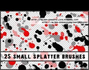 Small Splatter Brushes Photoshop brush
