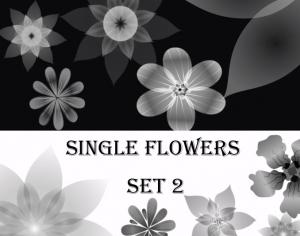 Single Flowers -set 2- Photoshop brush