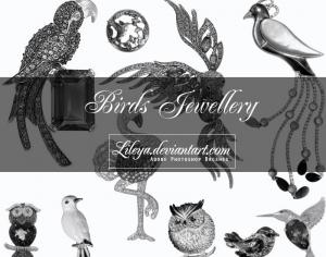 Birds Jewelry Photoshop brush