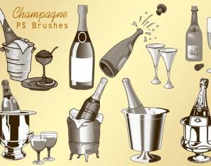 20 Champagne PS Brushes abr.vol.2 Photoshop brush