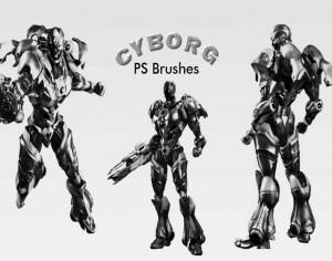 20 Cyborg PS Brushes abr.vol.1 Photoshop brush
