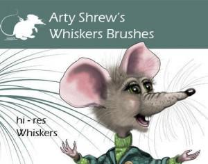 Arty Shrew's Whiskers Brushes Photoshop brush