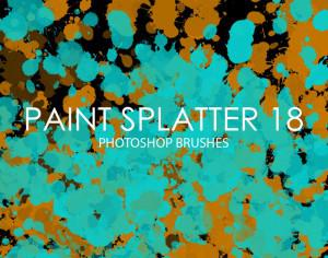 Free Paint Splatter Photoshop Brushes 18 Photoshop brush