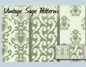 Vintage Sage patterns Photoshop brush