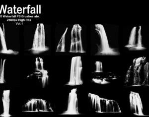 20 Waterfall PS Brushes abr. Vol.1 Photoshop brush