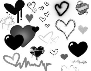 Heart Brushes Photoshop brush