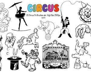 20 Circus Ps Brushes vol.5 Photoshop brush