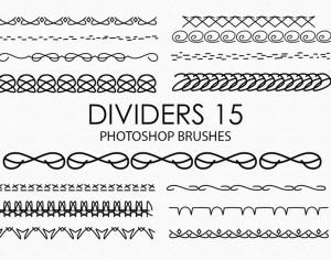 Free Hand Drawn Dividers Photoshop Brushes 15 Photoshop brush
