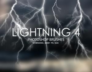 Free Lightning Photoshop Brushes 4 Photoshop brush