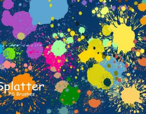 20 Splatter Color PS Brushes abr vol.3 Photoshop brush