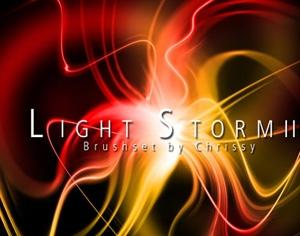 Light Storm 3 Photoshop brush