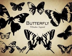 20 Butterfly PS Brushes abr.Vol.9 Photoshop brush