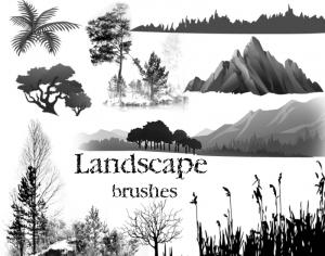 Landscape brushes Photoshop brush