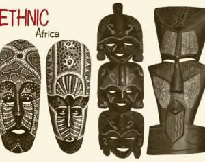 20 African Mask Brushes.abr vol.5 Photoshop brush