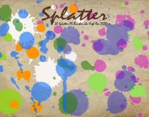 Splatter PS Brushes abr  Photoshop brush