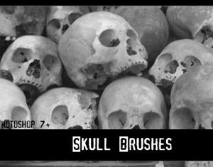 Skull brushes Photoshop brush