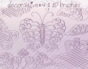 Decorative Brushes 4 Photoshop brush