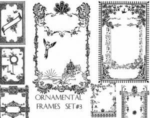 Ornamental Frames set 3 Photoshop brush