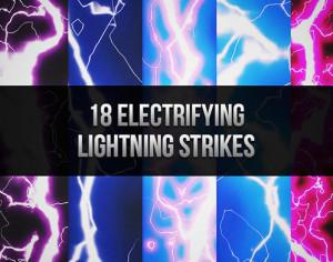 18 Electrifying Lightning Brush Strikes Photoshop brush