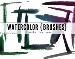 Watercolor Corner Photoshop brush