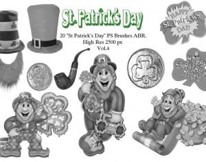 "20 ""St Patricks Day"" PS Brushes abr. Vol.4 Photoshop brush"
