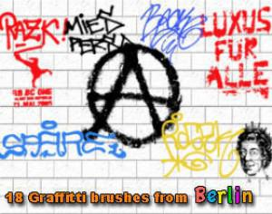 18 Graffiti Brushes from Berlin Photoshop brush