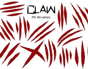 20 Claw Scratch PS Brushes ABR. vol.6 Photoshop brush