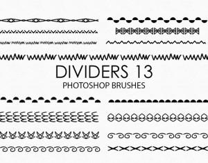 Free Hand Drawn Dividers Photoshop Brushes 13 Photoshop brush
