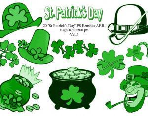 "20 ""St Patricks Day"" PS Brushes abr. Vol.5 Photoshop brush"