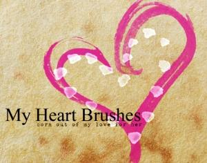 My Heart Brushes Photoshop brush