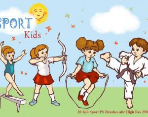 Sport Kid PS Brushes abr Photoshop brush