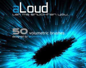 aLoud - Volumetric Brush Set Photoshop brush