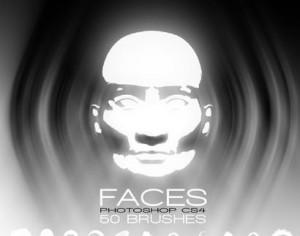 Faces Brushes Pack Photoshop brush
