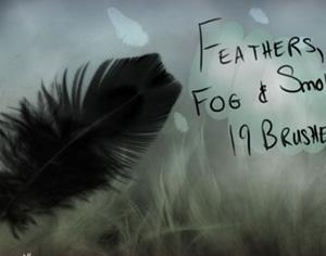 Feathers, Fog and Smoke Photoshop brush