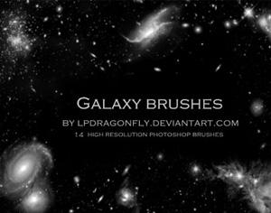 High Resolution Galaxy Brushes Photoshop brush