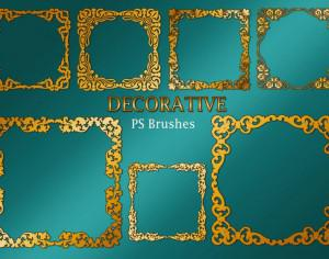 20 Decorative Border PS Brushes abr. Vol.2 Photoshop brush