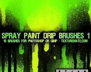 Spray Paint Drip Brushes 1 Photoshop brush