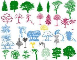 Tree Silhouette Brushes Pack Photoshop brush