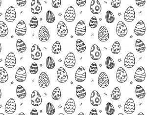 7 Easter Eggs Brushes Photoshop brush