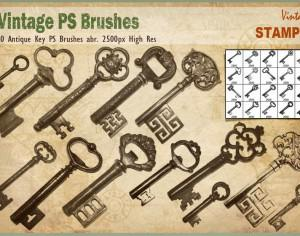 Antique Key PS Brushes abr. Photoshop brush