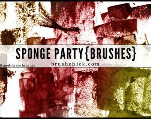 Sponge Party Brush Pack Photoshop brush