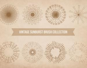 Vintage Sunburst Brushes Photoshop brush
