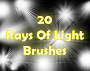 Rays of Light Brushes 2 Photoshop brush