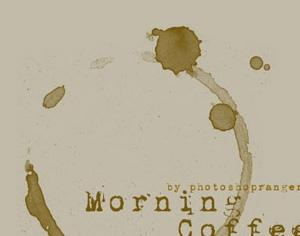 Coffee Stain Photoshop brush