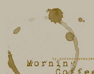 Coffee Stain Photoshop brush