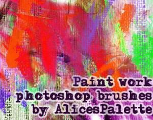 Paint brush work Photoshop brush